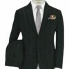 Vimal Men's Polyester Viscose Self Design 3.75 Meter Unstitched Suiting Fabric (Dark Grey)