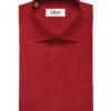 Arvind Men's Premium Cotton Solids 2.25 Meter Unstitched Shirting Fabric (Bright Red)