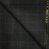 J.Hampstead Men's Wool Checks Super 120's 1.30 Meter Unstitched Trouser Fabric (Dark Grey)